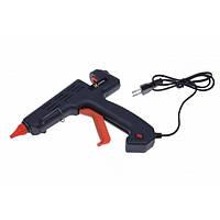 Клеевой пистолет с кнопкой HD-01, под клей 11мм, 180W, черный