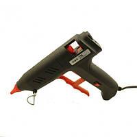 Клеевой пистолет с кнопкой HD-02, под клей 11мм, 120W, черный