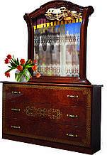 Комод з ДСП/МДФ в спальню, вітальню, дитячу Венеція Нова піно горіх Світ Меблів