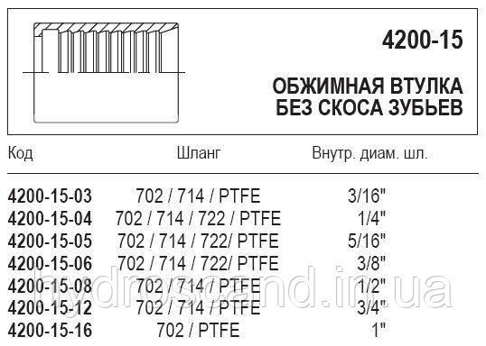 Обжимная втулка, 4200-15