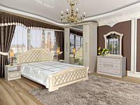 Спальня комплект з ДСП/МДФ 4Д (без матрасу та каркаса) Венеція Нова піно беж Світ Меблів