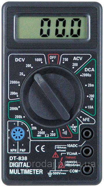 Цифровой мультиметр DT- 838, Тестер вольтметр амперметр, Токоизмерительный прибор универсальный