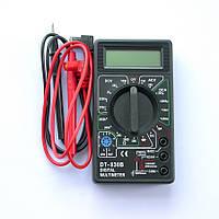 Мультиметр универсальный DT 830 B, Тестер вольтметр амперметр, Портативный цифровой мультиметр