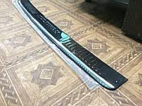 MULTIVAN T5 2010-2015 Накладка на задний бампер Кармос с надписью