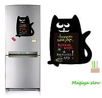 Магнитная доска на холодильник Кот, в подарочном тубусе