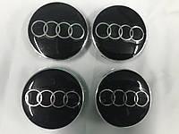Колпачки в титановые диски для Audi 65мм под стеклом