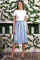Модный летний костюм юбка и топ