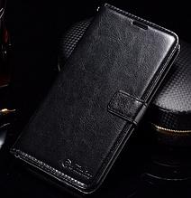 Кожаный чехол-книжка для Xiaomi Redmi note 4 черный