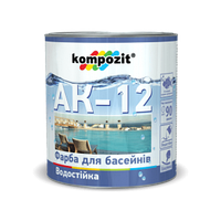 Краска для бассейнов АК-12 Kompozit голубая, 0.9 кг