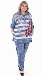 Женские брюки большого размера до 68 размера
