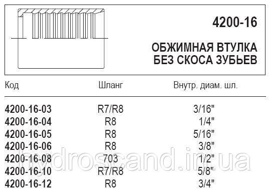 Обжимная втулка, 4200-16