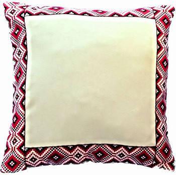 Подушка для сублимации, ткань габардин, размер 35х35, народный стиль, ромб красный, наполнитель холлофайбер, фото 2