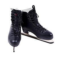 Черные коньки фигурные размер 35-42