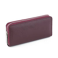 297e9d3b976a Кожаный женский клатч-кошелёк марсала флотар/ женский кошелек портмоне