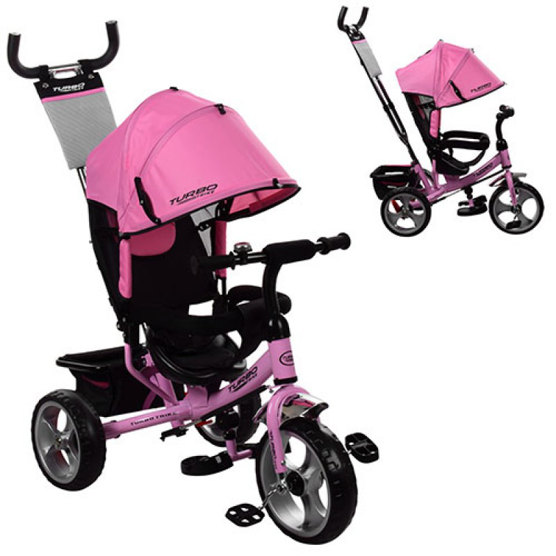 Трехколесный детский велосипед Turbo trike 3113-10 нежно-розовый (коле