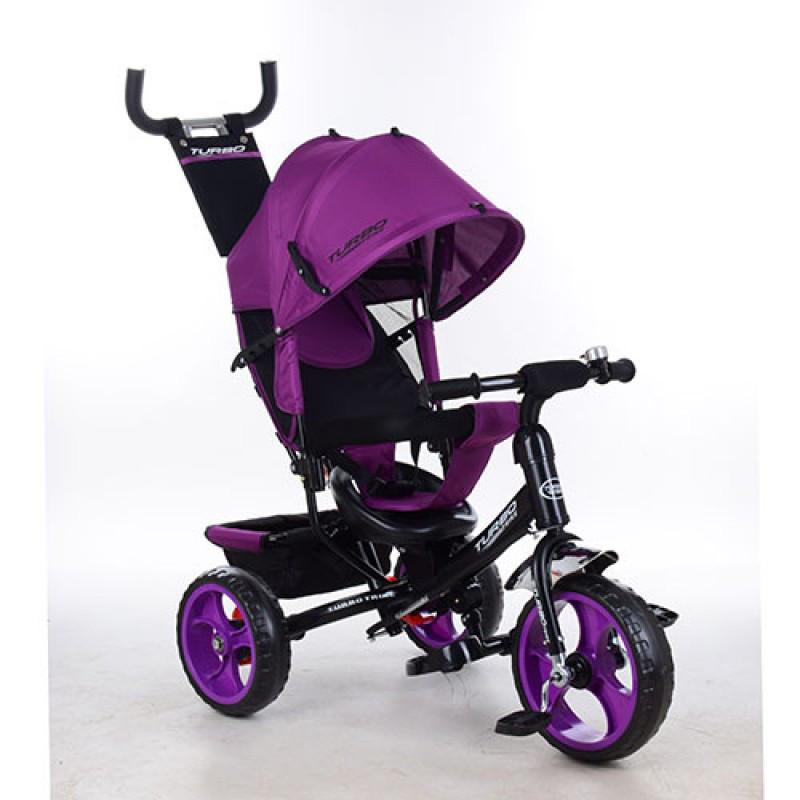 Трехколесный детский велосипед Turbo trike 3113-18 фуксия (колеса пена