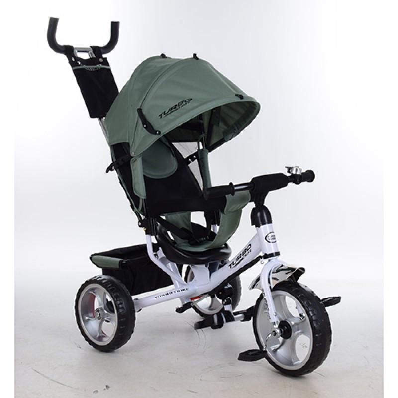Трехколесный детский велосипед Turbo trike 3113-17 хаки (колеса пена)