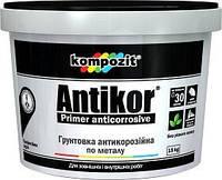 Грунтовка для металла ANTIKOR Kompozit красно-коричневая, 15 кг