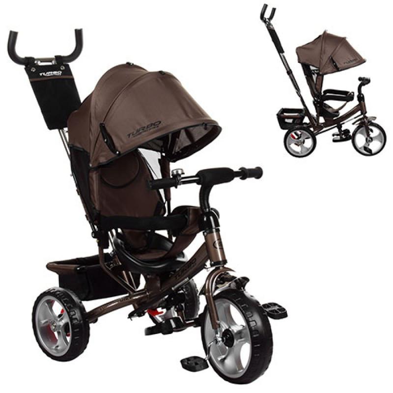 Трехколесный детский велосипед Turbo trike 3113-13 шоколад (колеса пен