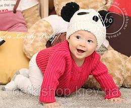 Детская шапочка «Panda» (бежевая)
