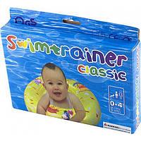 Надувной круг для купания младенцев, с ручками, TS-028