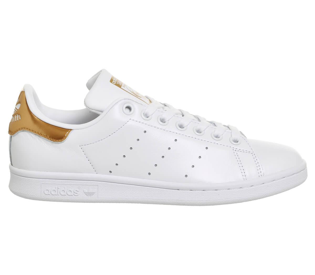 Кроссовки Adidas Stan Smith White Gold