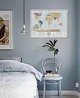 Скретч Карта Мира Travel Map Holiday Lagoon в тубусе (английский язык)