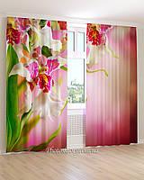 Фотошторы яркая орхидея