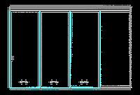 SSGA-9 Раздвижная дверь из стекла - Стеклянная раздвижная перегородка