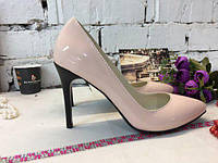 Женские туфли лодочки из натуральной лаковой кожи