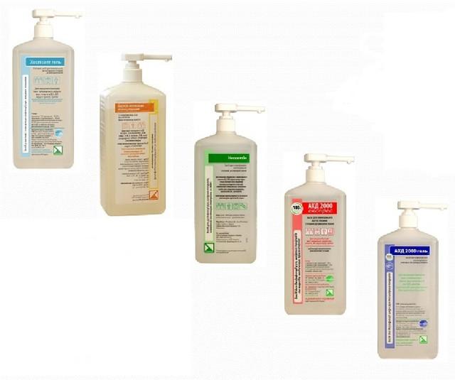 Засоби для дезінфекції рук та шкіри