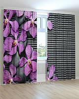 Фотошторы большая фиолетовая орхидея