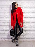 Стильное женское пальто с карманами