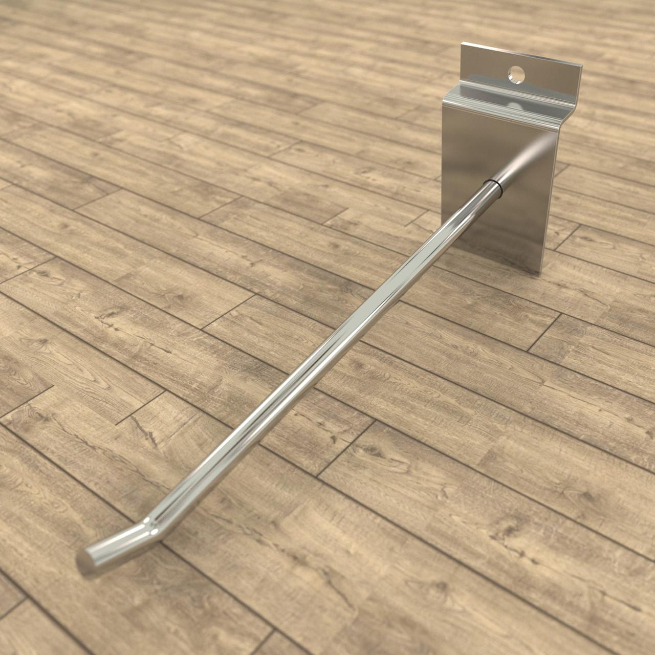 Крючки для экономпанелей | одинарные хромированные 200 мм