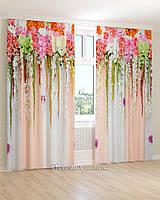 Фотошторы яркие длинные цветы