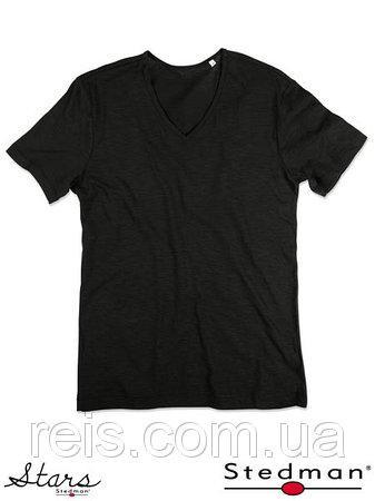 Мужская футболка с V-образным воротом SST9410 BLO