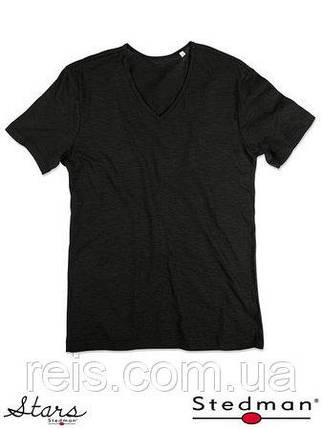 Мужская футболка с V-образным воротом SST9410 BLO, фото 2