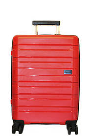 Дорожный чемодан V&V Travel CONWOOD PPT002_75 большой красный, черный, фиолетовый