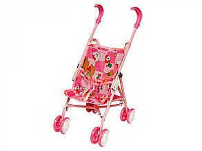 Куклы и пупсы «ТехноК» (0076) Кукольная коляска Алиса, (фиксированные колеса)