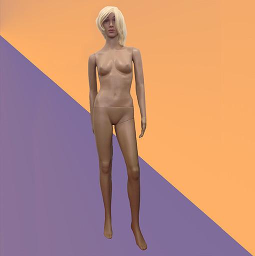 Женский телесный манекен пластиковый