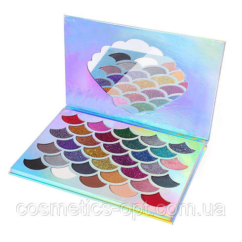 Тени и глитер Cleof The Original Mermaid Glitter Palette (реплика)