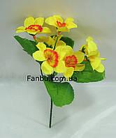 Искусственный куст нарцисса с желтыми цветами , фото 1