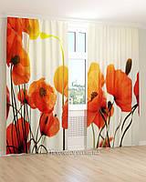 Фотошторы 3д оранжевые цветы