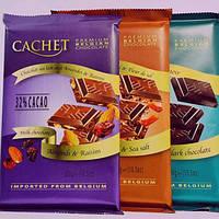 Шоколад Cachet з карамеллю і морською сіллю 300гр. (Бельгія)