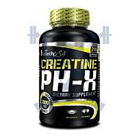 BioTech Creatine pH-X креатин моногидтрат для набора мышечной массы для тренировок спортивное питание