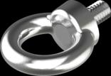 Болт с кольцом (рым-болт) DIN 580 ,сталь ,цинк белый ,кольцо ,полная ,метрическая ,для