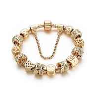 Позолоченный браслет PANDORA с белыми камнями