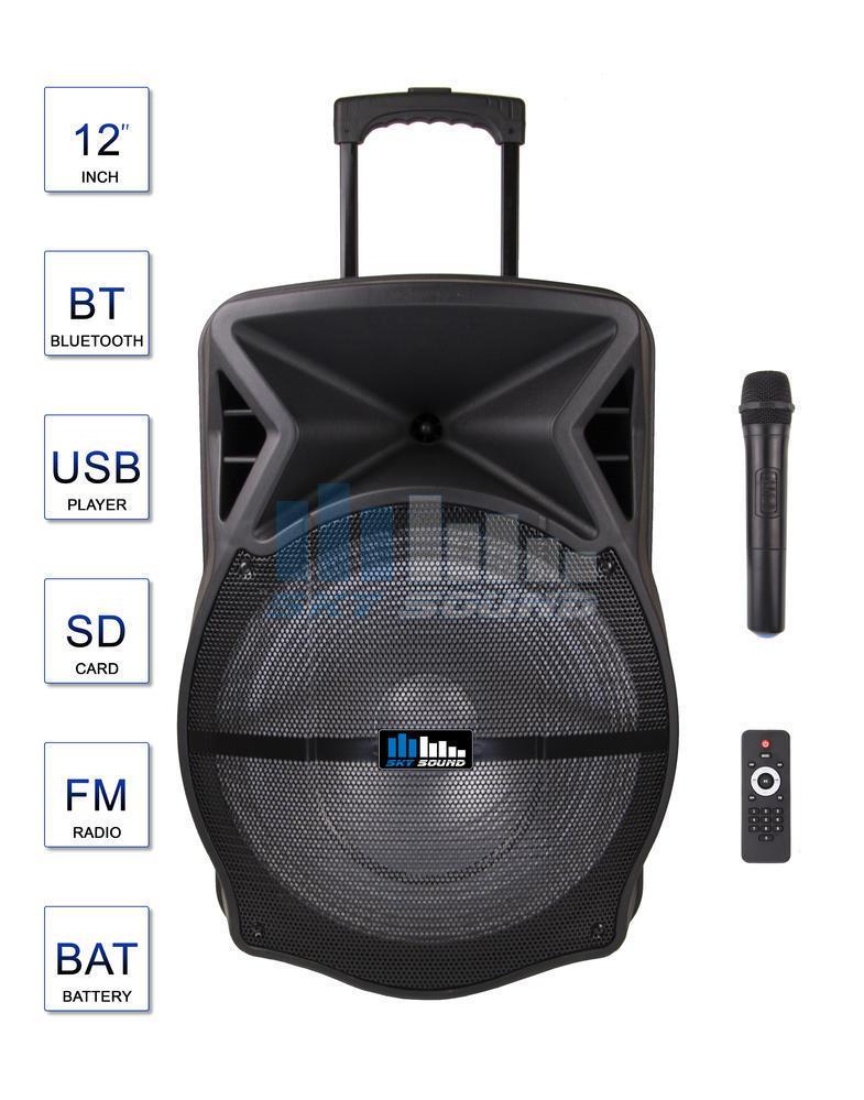 Автономная акустическая с одним ручным радио микрофоном система Sky Sound SPA-15 (200/400W)