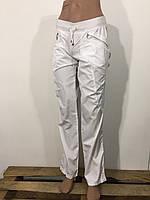 Штаны спортивные женские белые плащевка