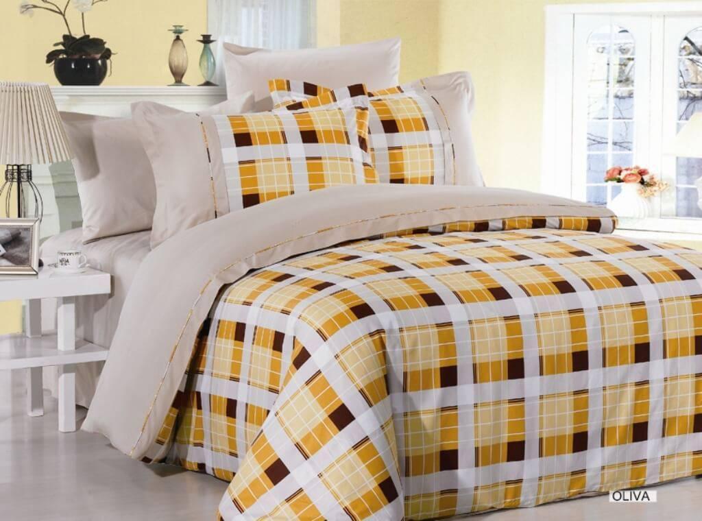 Комплект постельного белья ARYA сатин Oliva двуспальный - евро
